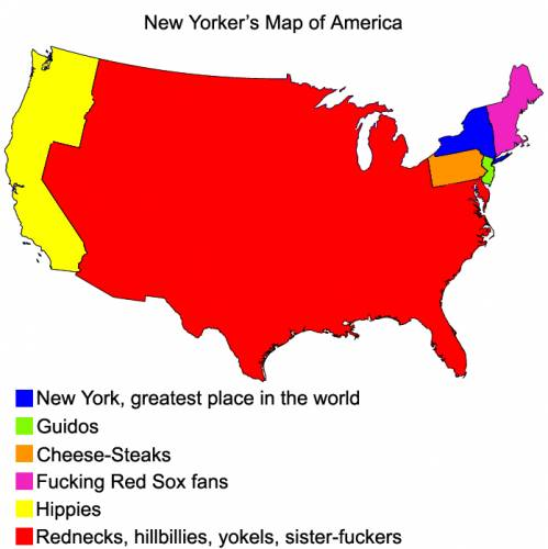 New Yorker's Map of America