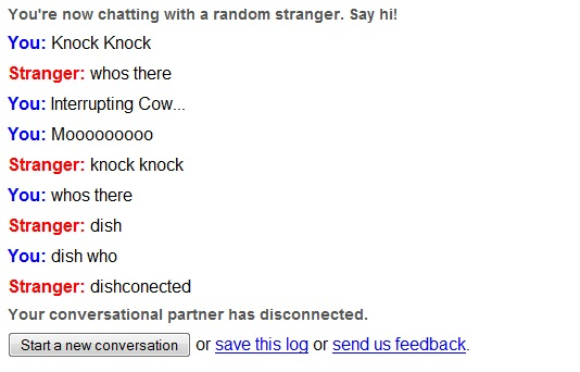 Knock Knock - Dishconnected | Omegle Chat [PIC]